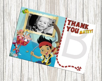 Jake And The Neverland Pirates Birthday Thank You Card - Custom with Photo