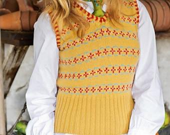 Fair Isle Vest Lucy PDF Knitting Pattern