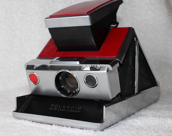 Rebuilt Original Model 1 Polaroid SX70 - Updated With Fun Red Skins