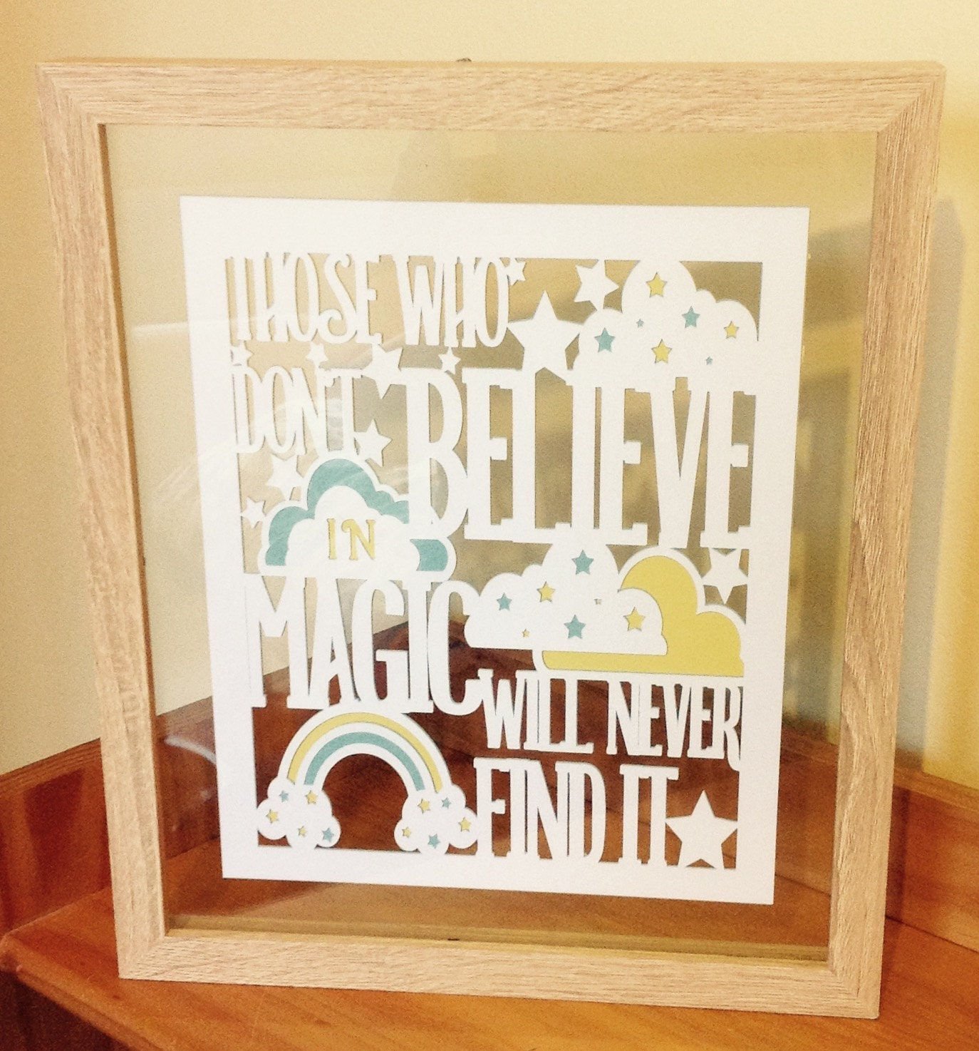 Believe in Magic - Roald Dahl quote - Paper Cut Layered in Floating ...