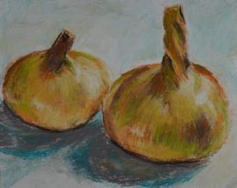 Original Painting, Studio Still Life, Onions, by Robert Lafond