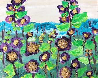 Field of Purple Flowers Painting