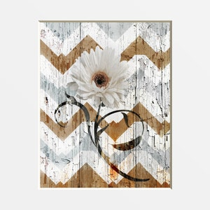 Brown White Rustic Home Decor, Daisy Flower, Rustic Theme, Bedroom, Living  Room