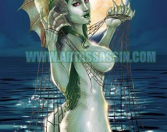 Breastiary File # 008 - Sea Monster R Version - 11x17 Print