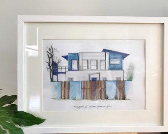 Hand-drawn Home Illustration A4