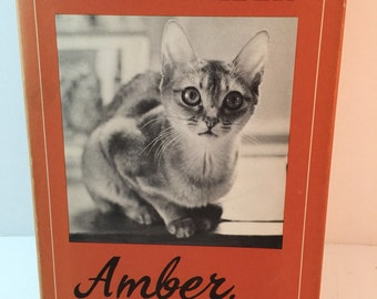 Vintage Book-Amber, A Very Personal Cat by Gladys Taber-1970-1st Edition hardcover-1970s Nonfiction-Cats