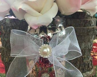 10 Beautiful wedding centerpiece vase mason jar flower vase