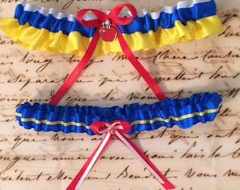 Someday My Prince Will Come - Snow White and Prince Charming - EVER AFTER COLLECTION - Disney Inspired Garter Set