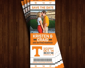 University of Tennessee, Vols Save the Date Ticket