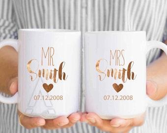 8th anniversary gift, 8th anniversary gifts for men, 8th anniversary gift bronze, gift for him, gift for her, coffee mugs, gift idea MU377
