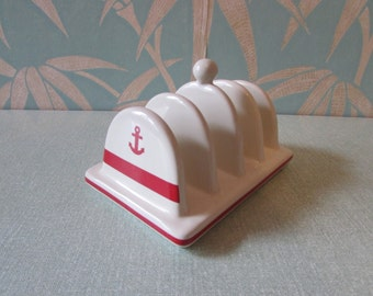 Collectable Anchor Butter ceramic toast rack