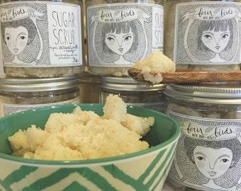 Sugar Scrub - Oatmeal, Milk and Honey  { body scrub / oatmeal scrub / spa gift for her / shower scrub }