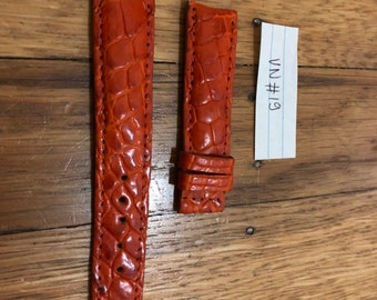 Brown Leather watch band Strap 100%  skin 20mm/18mm #VN019
