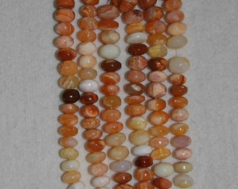 Opal, Mexican Fire Opal, Smooth Rondelle, Fire Opal Rondelle, Opal Rondelle, Semi Precious, Natural Stone, Full Strand, 12 mm, AdrianasBeads