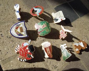 Vintage Virginia WBA Pins, Lot of 10 Bowling Pins and Brooches, Virginia and Hampton Roads.  Sell All or Individual.