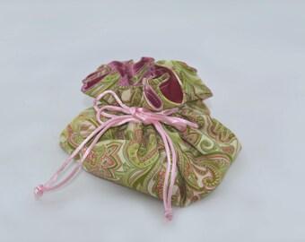 Travel jewelry pouch,  jewellery bag