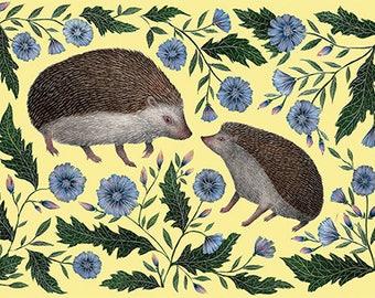 Hedgehogs A5 Print