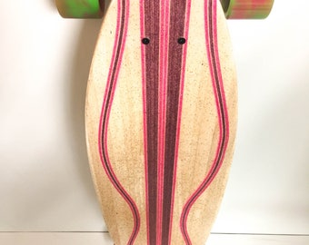 Handcrafted infused Custom Pintail Longboard Skateboard