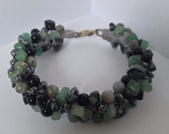 Cool Green Wreath Bracelet