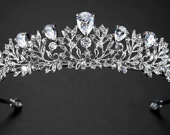 RAMONA - Silver Bridal Wedding Tiara