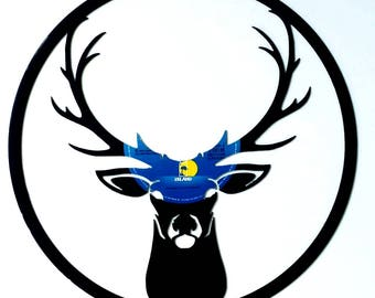 Deer Head - Vinyl Record Art