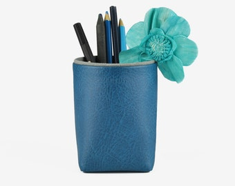 Pencil Holder for Desk, Brush Holder, Storage Box, Desk Organization, Navy Blue