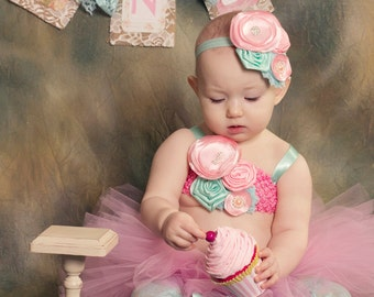 Fake Cupcake First Birthday Photo Prop Shabby Chic Decor Marie Antoinette Design Photo Prop Home Decor