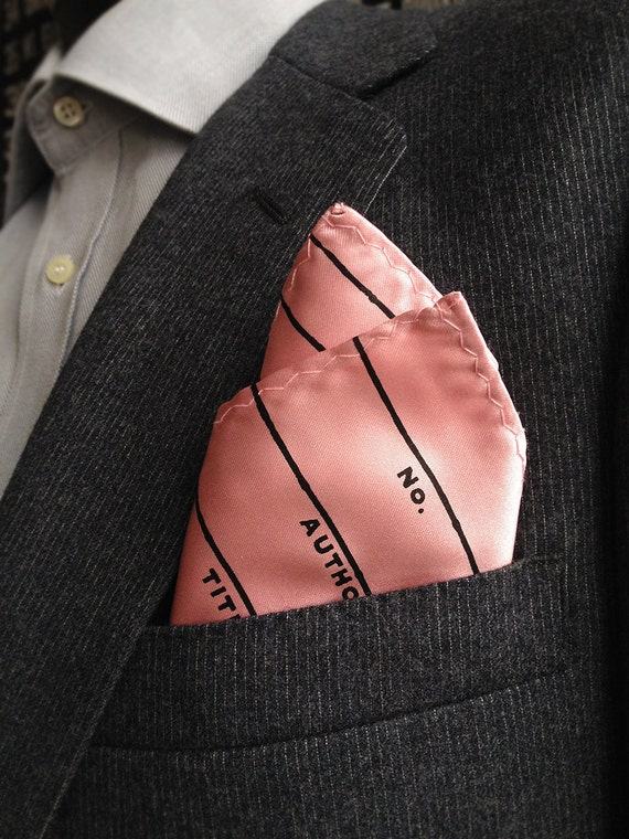 Check Out The More Like This: Library Date Due Pocket Square. Check Out Card Handkerchief