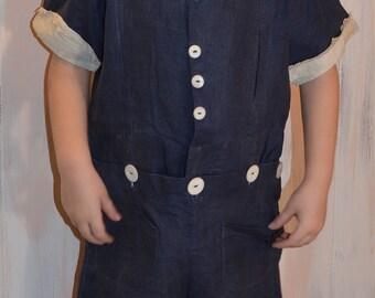 Vintage Edwardian Childs Ruffled Bobbie Romper Titanic Outfit