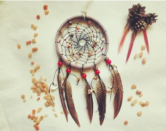 Native America Dreamcatcer Dream catcher Boho Home design Gift Wall hanging Indian style Boho dreamcatcher Indian style