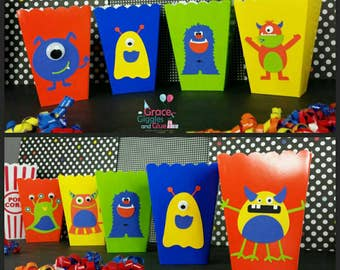 10 Monster Snack/Favor Boxes with Googly Eyes!