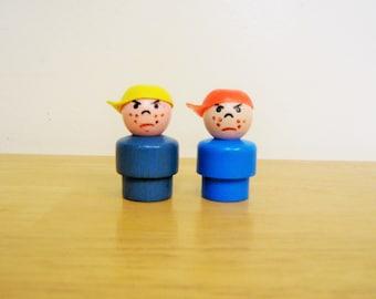 Vintage Fisher Price Little People Grumpy Guys