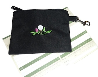 Golf Accessory Bag - Golf Ball with Flower