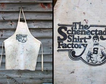 Vintage Schenectady Shirt Factory Apron Graphic Painter's Apron Advertising