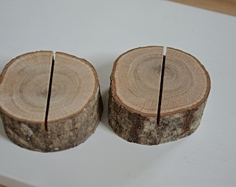 40 Wood Place Card Holders Oak Table Number Holders for Wedding Table Decor