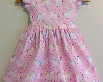 Toddler Unicorn dress,  girls unicorn dress, baby unicorn dress, unicorn birthday dress, unicorn dress, twirl dress, unicorn birthday dress