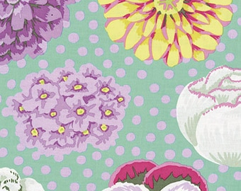 BIG BLOOMS in Green   GP91 - Kaffe Fassett Collective Classics for Free Spirit Fabrics - By the Yard
