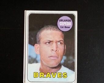 1969 Orlando Cepeda Topps # 385 Card, Very Good Shape