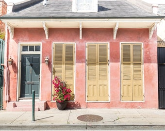 New Orleans Pink French Quarter Home Greeting Cards