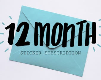 12 Month Sticker Subscription
