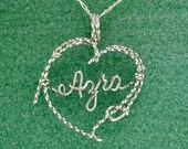 Personalized Lariat Rope Heart