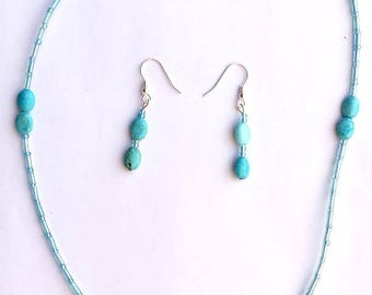 Turquoise Temptation necklace/earring set