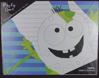 Set of 12 placemats coloring pattern Monster