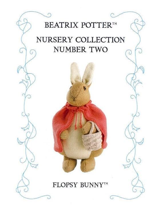 Original Flopsy Bunny Beatrix Potter Knitting Pattern Inspired By