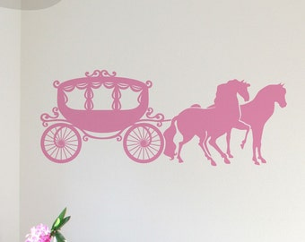 Princess Carriage - Vinyl Wall Decal