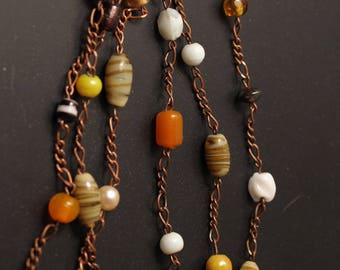 Glass Bead Chain Necklace