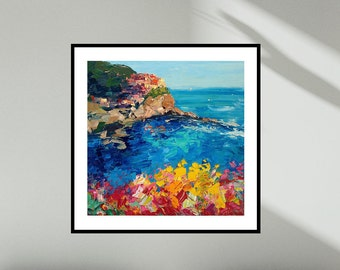 Manarola Prints Cinque Terre Prints Seascape Prints Italy Prints Wall Art Canvas Living Room Five Land Office Decor Italy Gifts for Mom