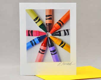 Crayons Colorful Note Card