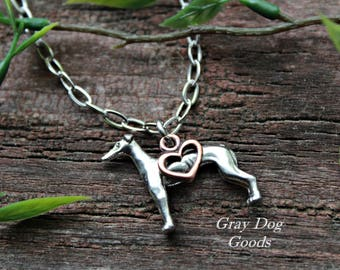 Greyhound Necklace, Greyhound Jewelry, Whippet Necklace, Whippet Jewelry