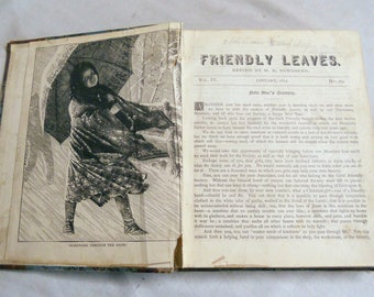 Friendly Leaves, 1879 - 1880, The Girl's Friendly Society, 19th Century Antique Book